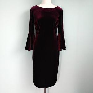 Calvin Klein | velvet dress